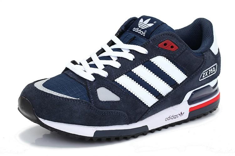 5880b177c04 Pas Cher Adidas ZX 750 - blanc bleu - Chaussures pour Femme - France.657  UE8334 - lifestyle sport running. Adidas Originals ZX750 Chaussures Officiel  Prix ...