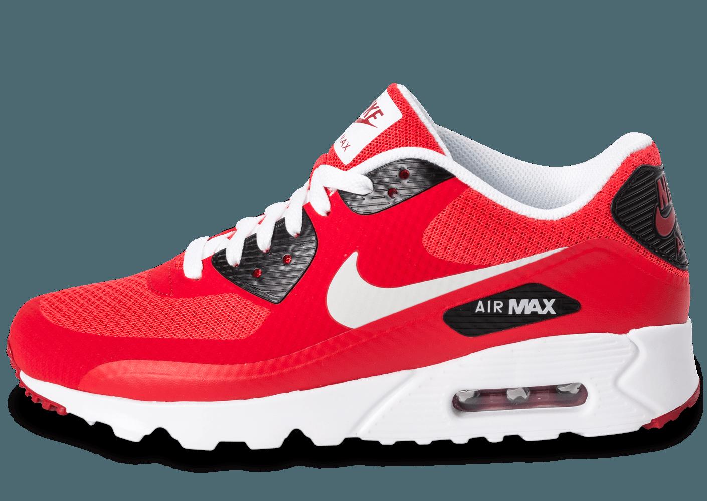 best service 5a659 43486 Cliquez pour zoomer Chaussures Nike Air Max 90 Ultra Essential rouge vue  extérieure ... ... Chaussures Nike Air Max 90 Ultra Essential rouge vue  avant .
